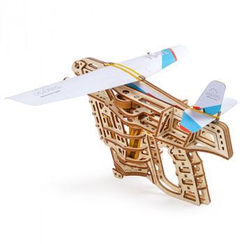 Конструктор 3D-пазл Ugears - Пускатель самолётиков