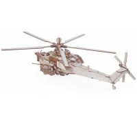 Конструктор деревянный Lemmo Вертолет Ночной охотник