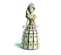 Конструктор 3D деревянный подвижный Lemmo Принцесса