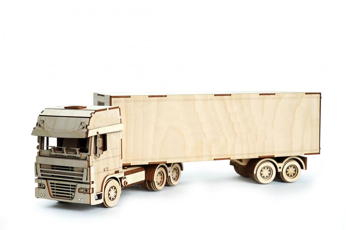 Купить Конструктор 3D деревянный подвижный Lemmo Грузовик ...