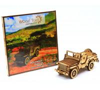 Механический 3D-пазл из дерева Wood Trick Джип