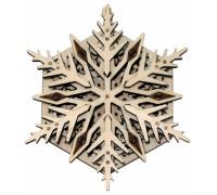 3D-пазл из дерева Wood Trick Вудик Снежинка