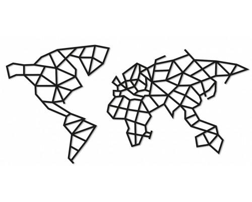 Деревянный интерьерный пазл EWA Карта Мира