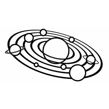 Деревянный интерьерный пазл EWA Design Солнечная система