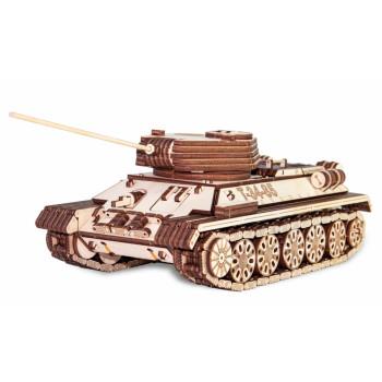 Сборная модель из дерева механическая EWA Танк Т-34