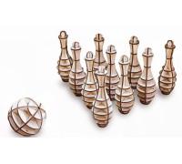 Конструктор деревянный 3D EWA Боулинг Мини