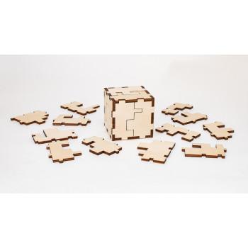Деревянный конструктор-головоломка EWA Cube 3D puzzle