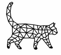 Деревянный интерьерный пазл EWA Design Кошка