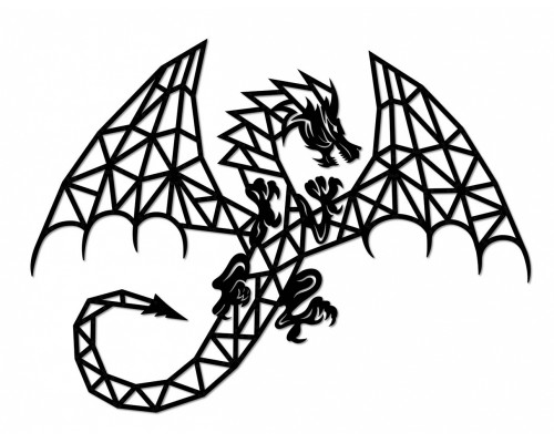 Деревянный интерьерный пазл EWA Design Дракон