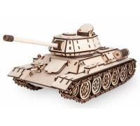Конструктор деревянный 3D EWA Танк T-34