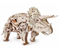 Конструктор деревянный 3D EWA Динозавр Трицератопс