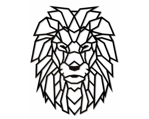 Деревянный интерьерный пазл EWA Лев