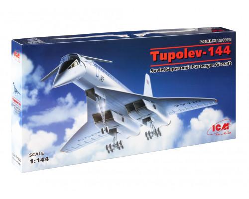 14401 ICM Ту-144, Советский сверхзвуковой пассажирский самолет, 1/144