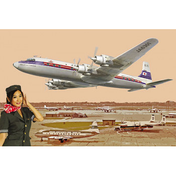 Rod303 Самолёт DC-7C Japan Air Lines