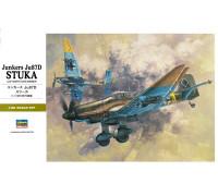 """H08076 Hasegawa Немецкий пикирующий бомбардировщик Junkers Ju87D """"Штука"""" (1:32)"""