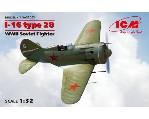 32002 ICM И-16 тип 28, Советский истребитель ІІ МВ, 1/32