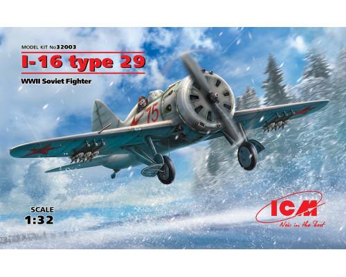 32003 ICM И-16 тип 29, Советский истребитель ІІ МВ, 1/32