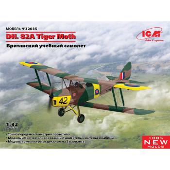 32035 ICM DH. 82A Tiger Moth, Британский учебный самолет, 1/32