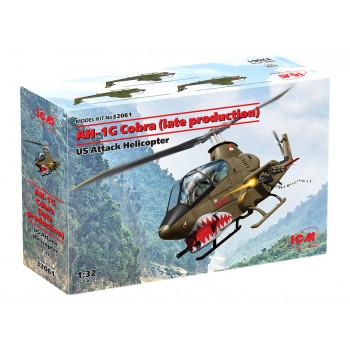 32061 AH-1G Cobra (позднего производства), Американский ударный вертолет ICM, 1/32