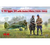 И-16 тип 24 с советскими пилотами (1939-1942 г.)