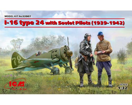 32007 ICM И-16 тип 24 с советскими пилотами (1939-1942 г.), 1/32