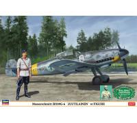 H08242 Hasegawa Истребитель финских ВВС Messerschmitt Bf109G-6 с миниатюрой Юутилайнена (1:32)