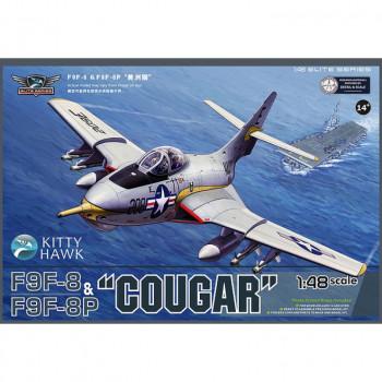 "KH80127 1/48 F9F-8 & F9F-8P ""COUGAR"", , шт от Kitty Hawk"