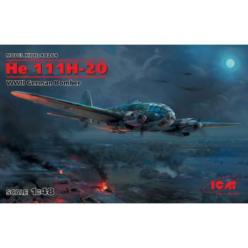 He 111H-20, Германский бомбардировщик ІІ МВ сборная модель