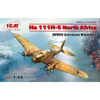 """He 111H-6 """"Северная Африка"""", Германский бомбардировщик ІІ МВ сборная модель"""