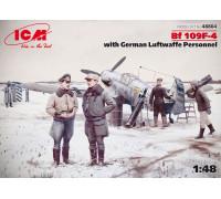 Bf 109F-4 с персоналом ВВС Германии