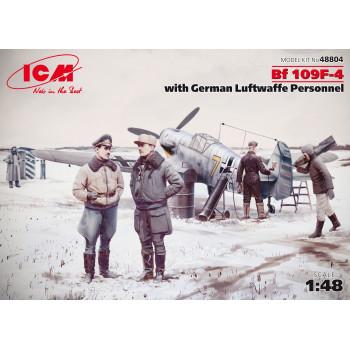 Bf 109F-4 с персоналом ВВС Германии сборная модель