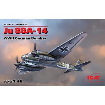 Ju 88A-14, Германский бомбардировщик ІІ МВ сборная модель