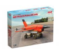 48401 ВQM-34А (Q-2C) Firebee с тележкой ICM, 1/48