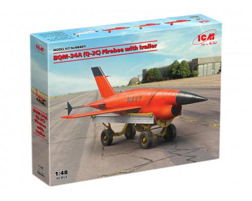 48401 ICM ВQM-34А (Q-2C) Firebee с тележкой
