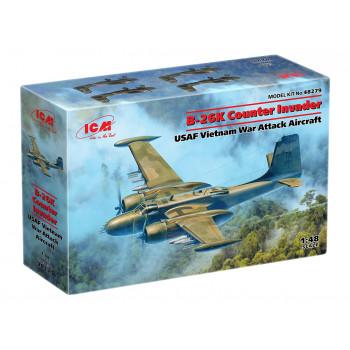 48279 ICM B-26K Counter Invader, Американский ударный самолет (война во Вьетнаме), 1/48