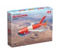 48402 KDA-1(Q-2A) Firebee, Американский беспилотный самолет ICM, 1/48
