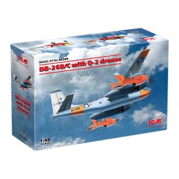 48286 ICM DB-26B/C с беспилотными самолетами Q-2, 1/48