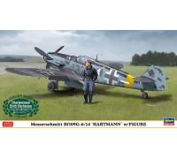 H07447 Hasegawa Немецкий истребитель Messerschmitt Bf109G-6/14 с фигурой Хартмана (1:48)