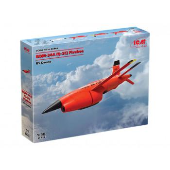 48403 BQM-34А (Q-2C) Firebee, Американский беспилотный самолет ICM, 1/48