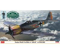 """H07492 Hasegawa Немецкий истребитель Focke Wulf Fw190A-4 """"Graf"""" с миниатюрой (1:48)"""