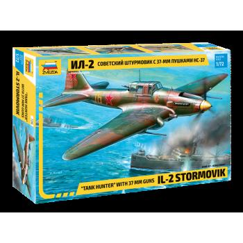 "zv7286 Самолет ""Ил-2"" с пушкаи НС-37"