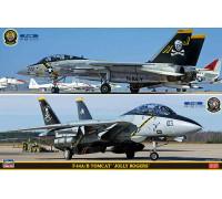"H52146 Hasegawa Палубный истребитель F-14A/B Tomcat ""Jolly Rogers"" (2в1) (1:72)"