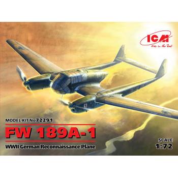 FW 189A-1, Германский самолет-разведчик II МВ сборная модель