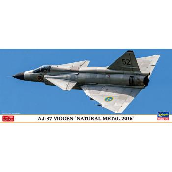 "H02232 Hasegawa Шведский многоцелевой истребитель AJ-37 Viggen ""Natural metal 2016"" (1:72)"