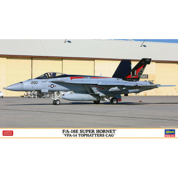 "H02309 Hasegawa Американский палубный истребитель F/A-18E Super Hornet ""VFA-14 Tophatters CAG"" (1:72"