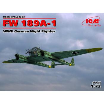 72293 ICM FW 189A-1, Германский ночной истребитель ІІ МВ, 1/72