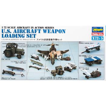 H35005 Hasegawa Служба обеспечения U.S. Aircraft weapon loading set (1:72)