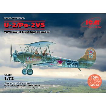 72243 ICM У-2/По-2ВС, Советский легкий ночной бомбардировщик II МВ (100% новые формы), 1/72