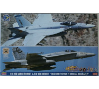 "H52167 Hasegawa Набор F/A-18E Super Hornet и F/A-18C Hornet ""USS Nimitz"" CVW-11 (1:72)"