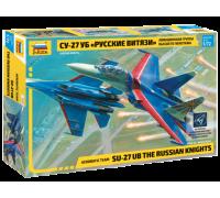 Самолет Су-27УБ Русские витязи
